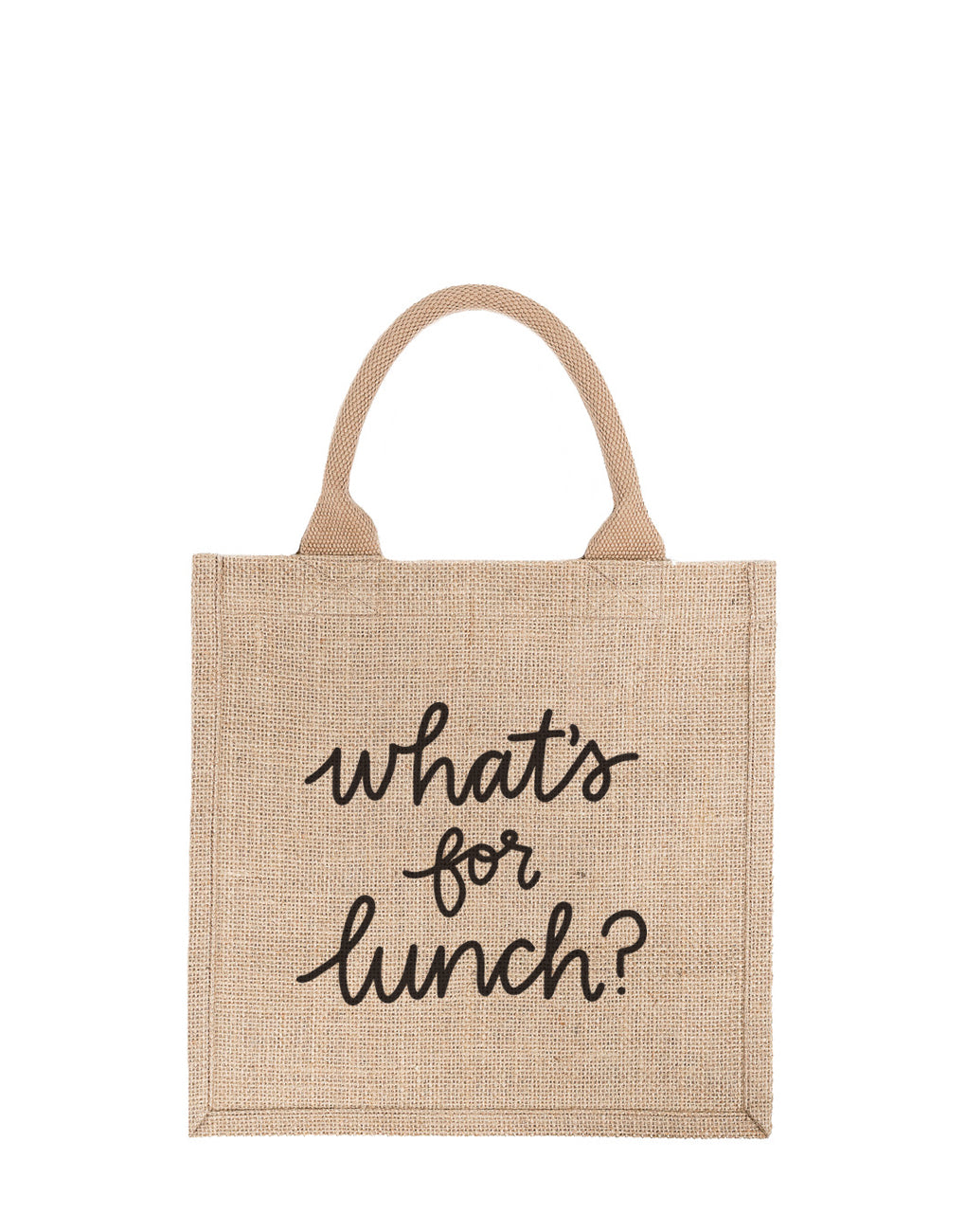 Large What's For Lunch Reusable Gift Tote In Black Font | The Little Market