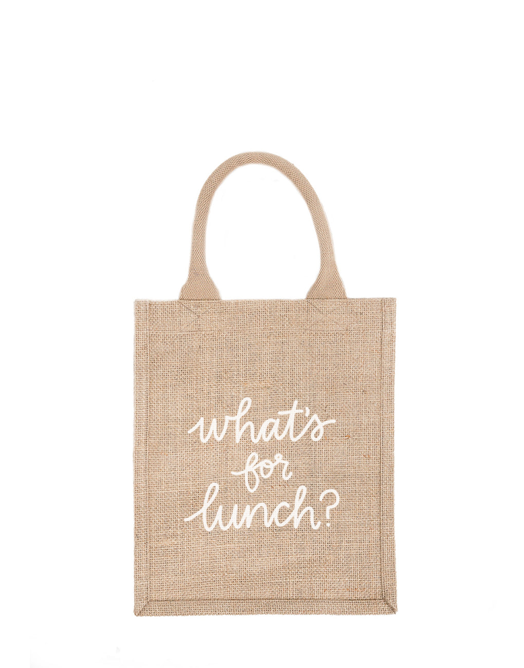 Medium What's For Lunch Reusable Gift Tote In White Font | The Little Market