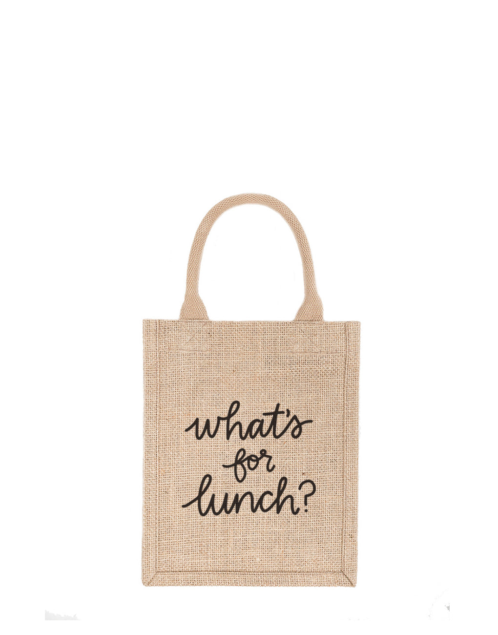 Small What's For Lunch Reusable Gift Tote In Black Font | The Little Market