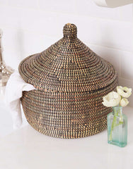 Fair Trade Black Woven Storage Basket