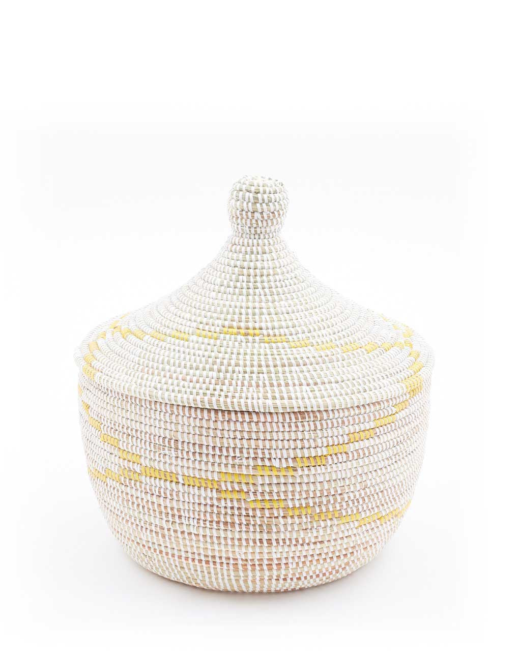 Fair Trade Yellow Woven Storage Basket