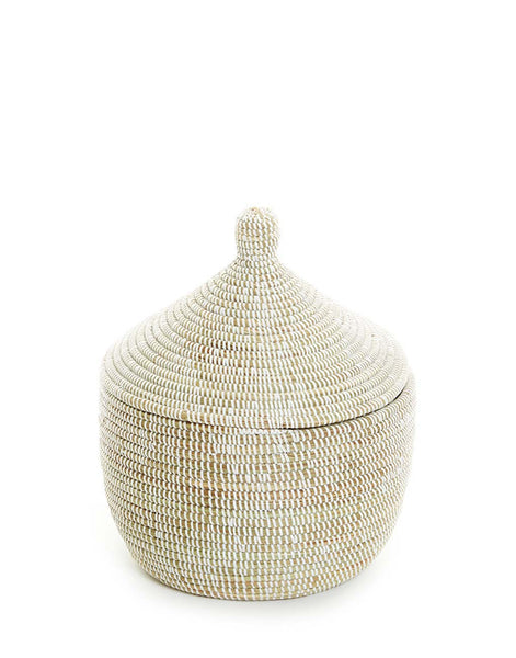 Whimsical Basket - White