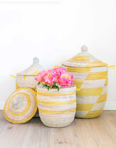 Fair Trade Handwoven Yellow Hamper