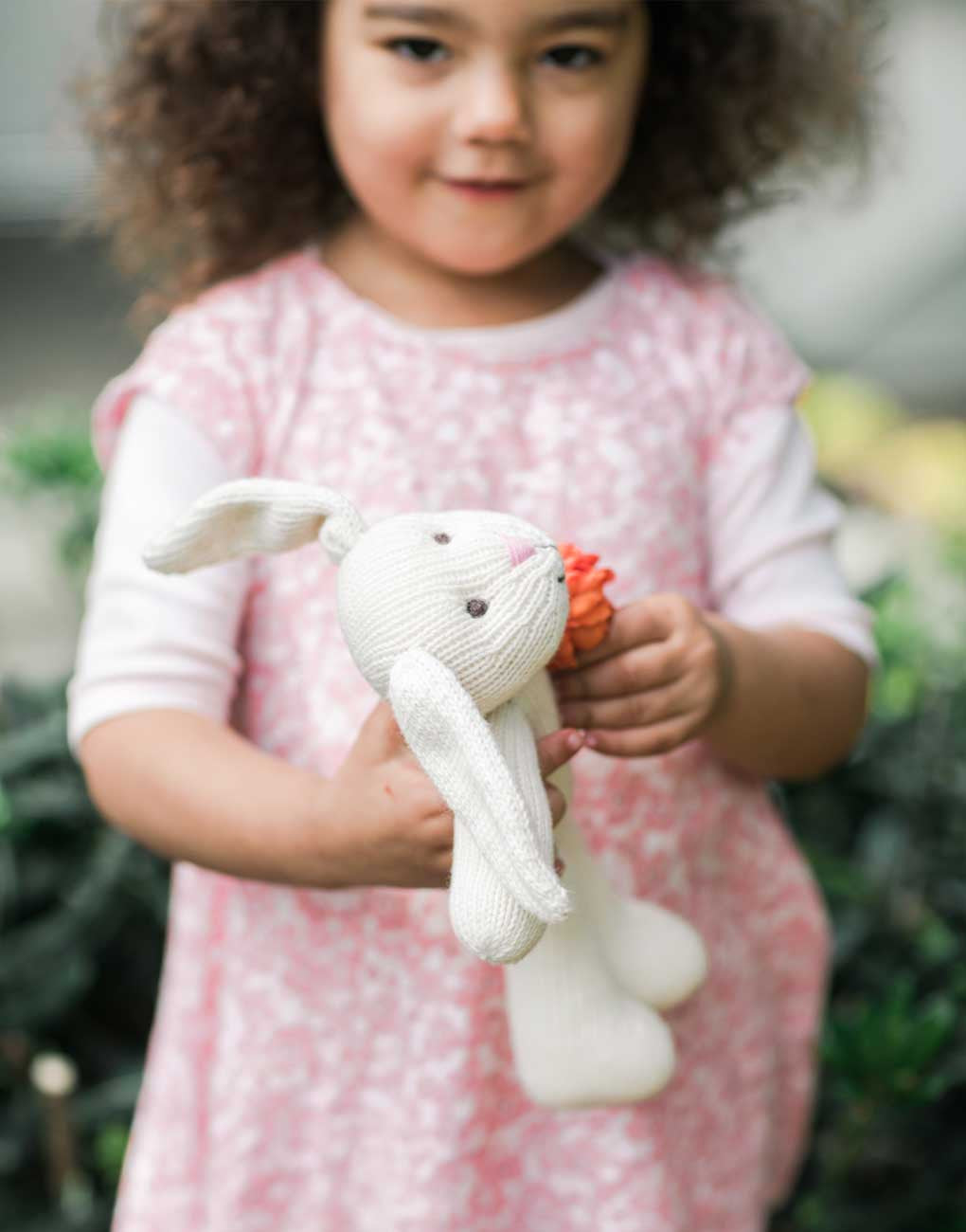 Fair Trade, Handmade White Bunny