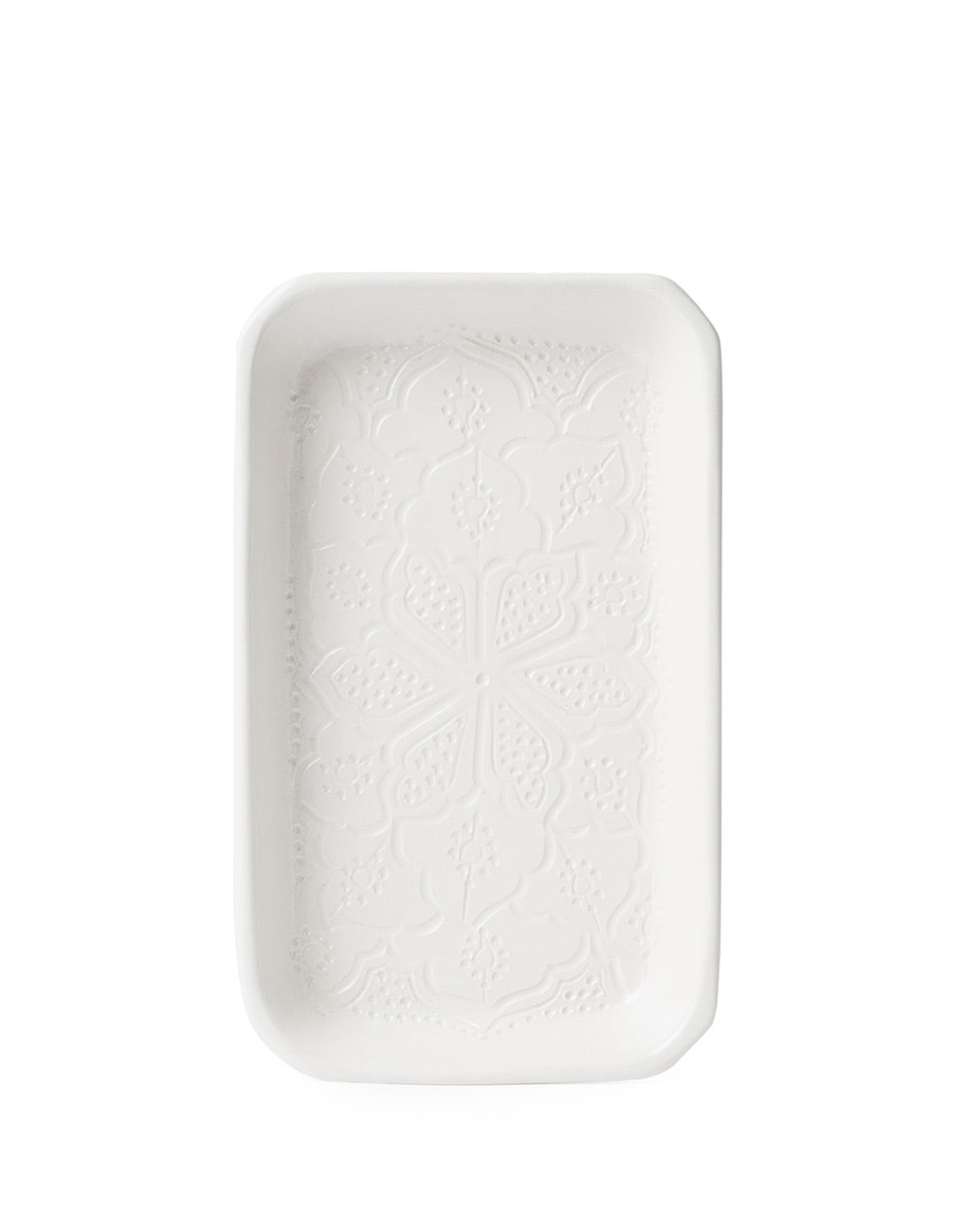 Fair Trade Moroccan Ceramic Tray, White