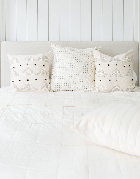White Grid Quilt | The Little Market