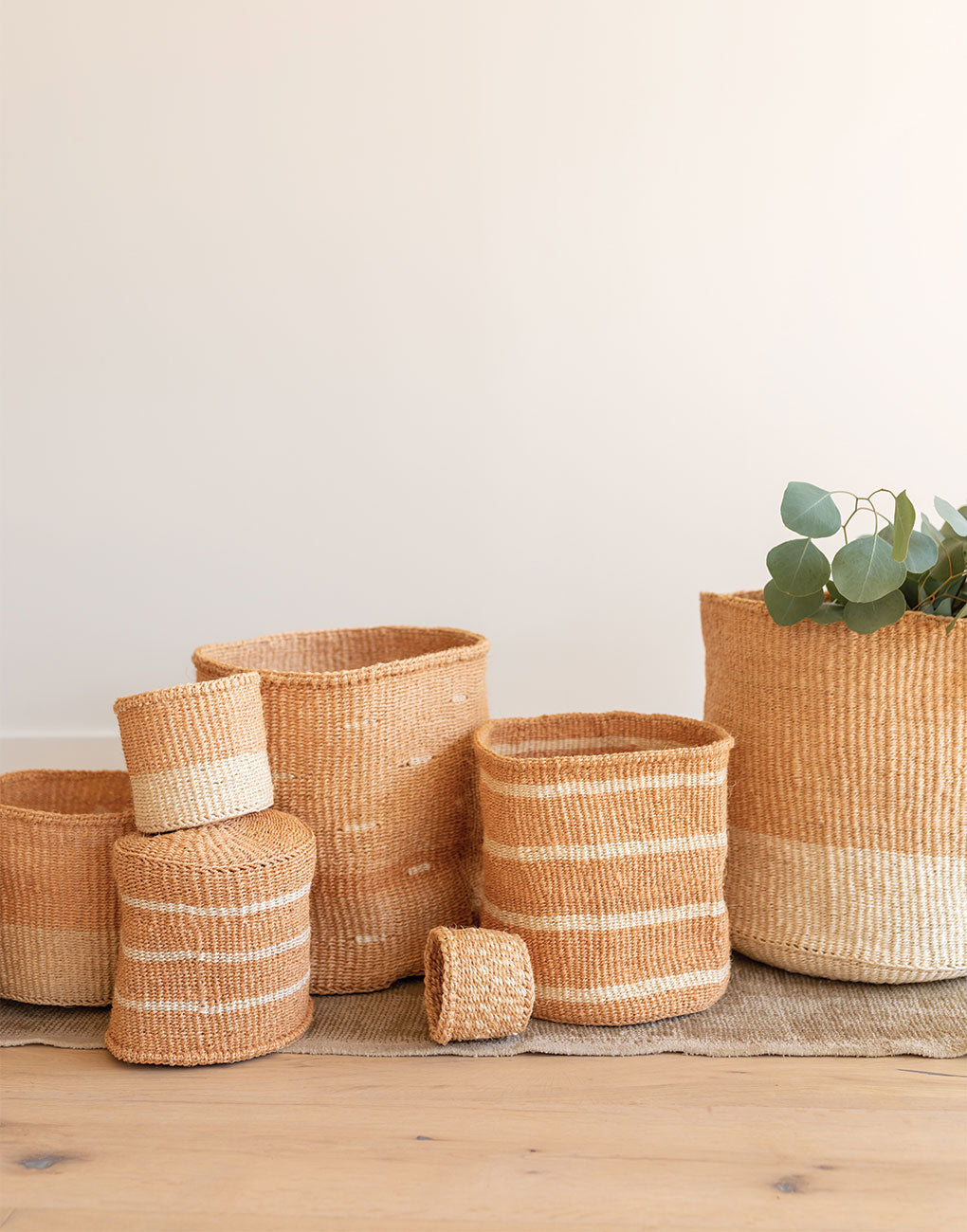 White Sisal Baskets | The Little Market
