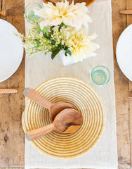 Wide Wood And Bone Salad Servers | The Little Market
