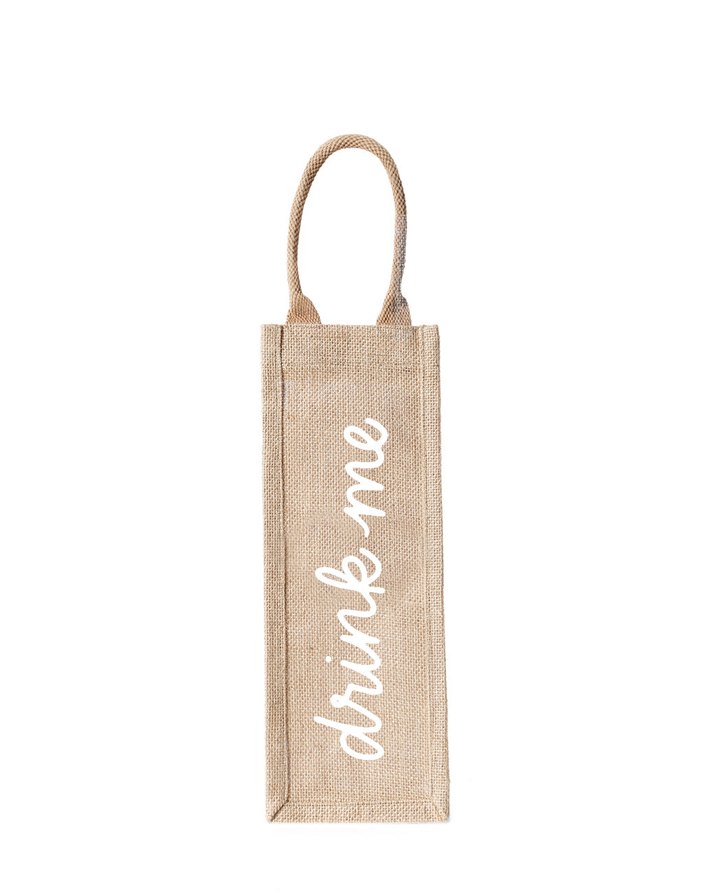 Drink Me Reusable Wine Tote In White Font | The Little Market
