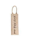 Pop Fizz Clink Reusable Wine Tote In Black Font | The Little Market