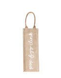 Pop Fizz Clink Reusable Wine Tote In White Font | The Little Market