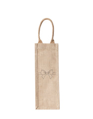 Lauren Conrad Design Bow Reusable Wine Tote In Black Design | The Little Market