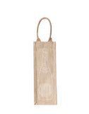 Lauren Conrad Design Champagne Reusable Wine Tote In White Design | The Little Market