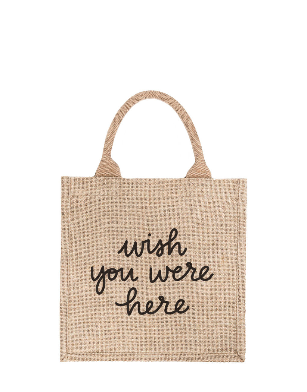 Large Wish You Were Here Reusable Gift Tote In Black Font | The Little Market