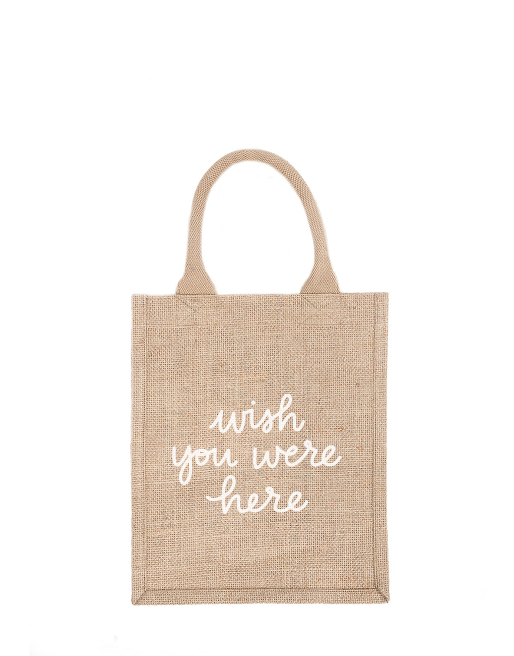 Medium Wish You Were Here Reusable Gift Tote In White Font | The Little Market