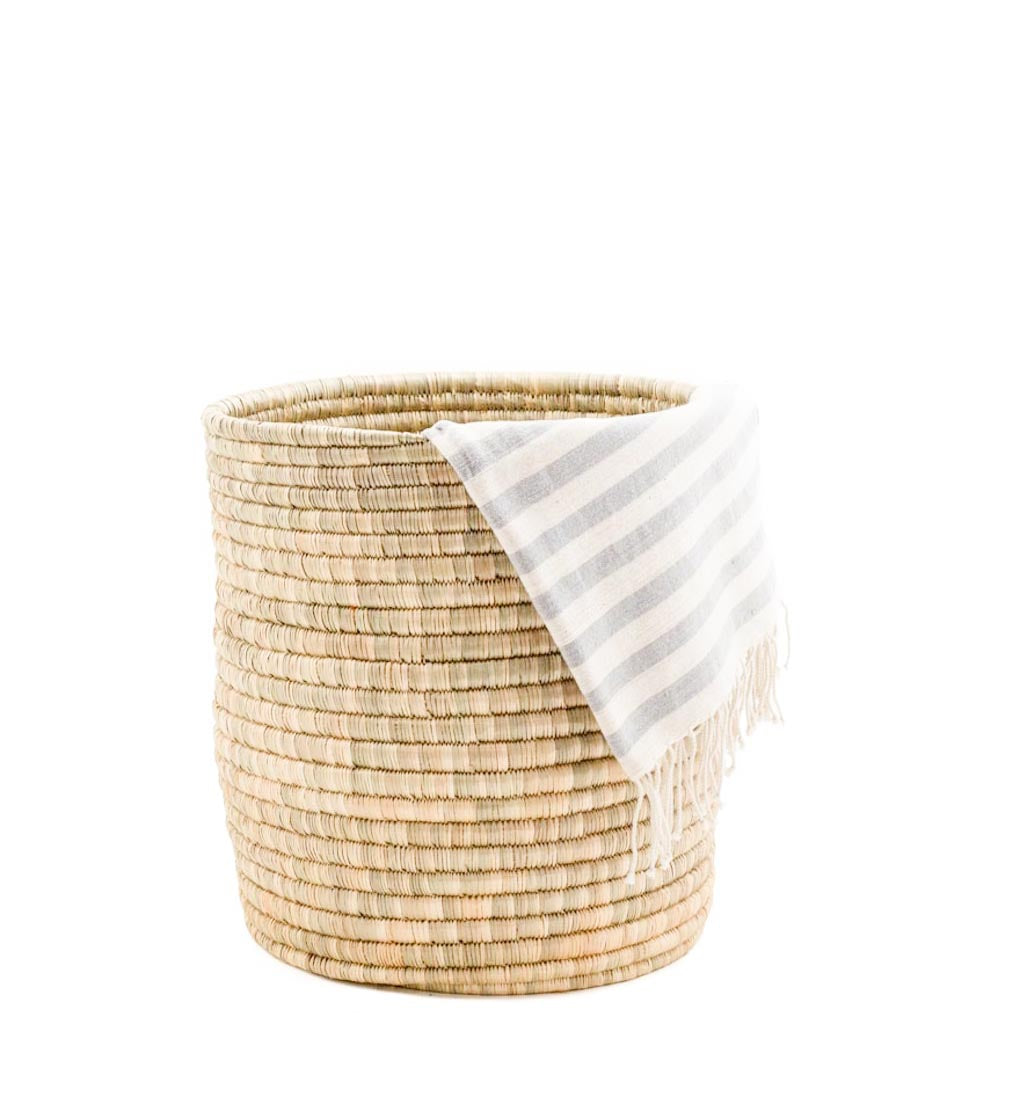 Natural Woven Bath Bin With Hand Towel | The Little Market