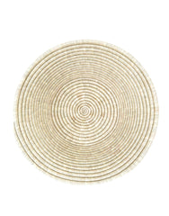 Fair Trade, Hand-woven Neutral Deep Bowl & Basket