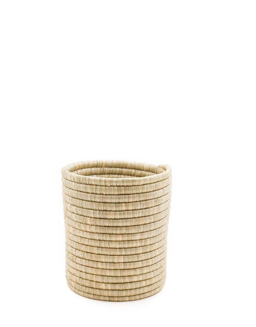 Medium Natural Woven Bath Bin | The Little Market