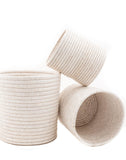 Small, Medium, And Large White Woven Bath Bins | The Little Market