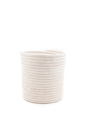 Large White Woven Bath Bin | The Little Market