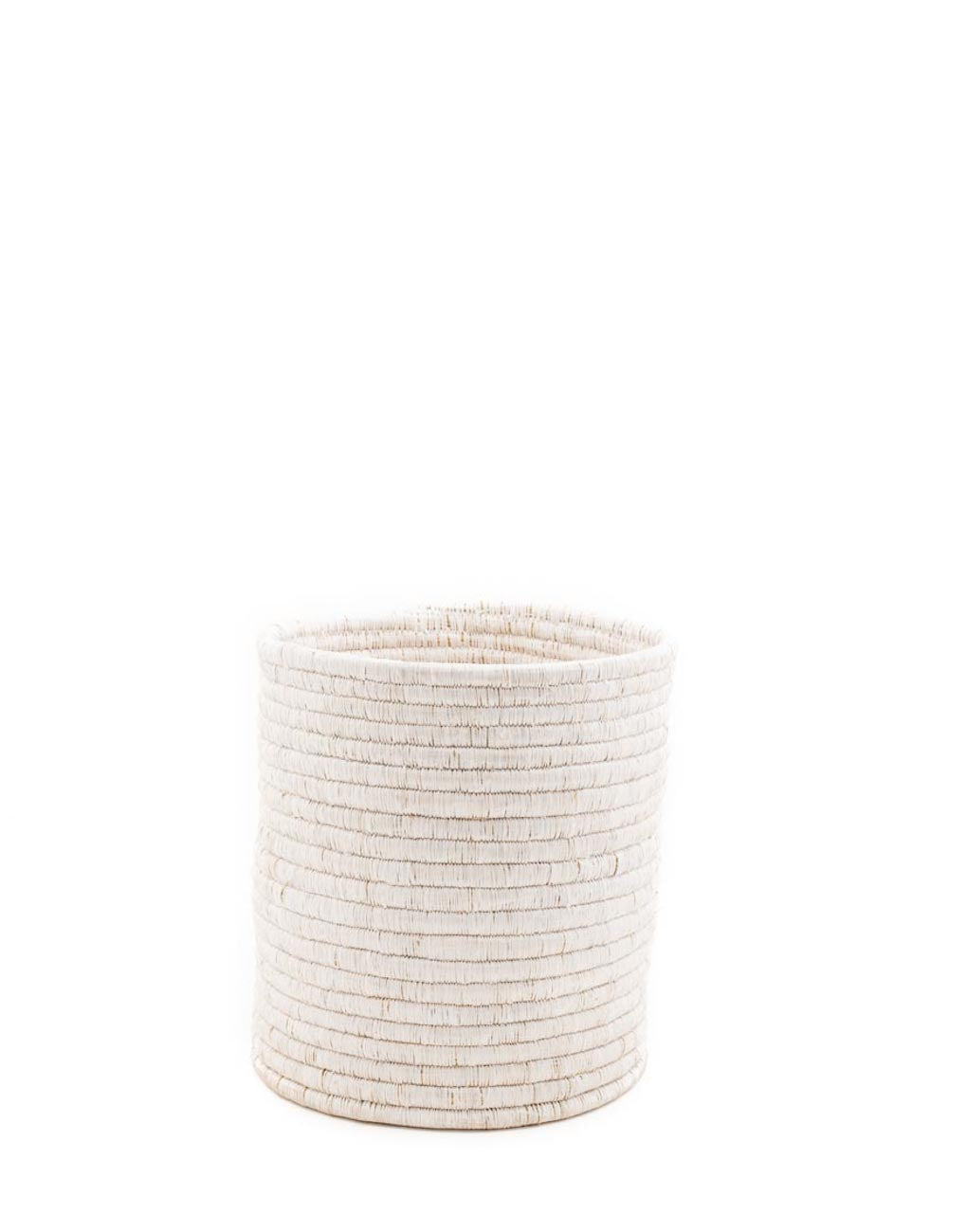 Medium White Woven Bath Bin | The Little Market