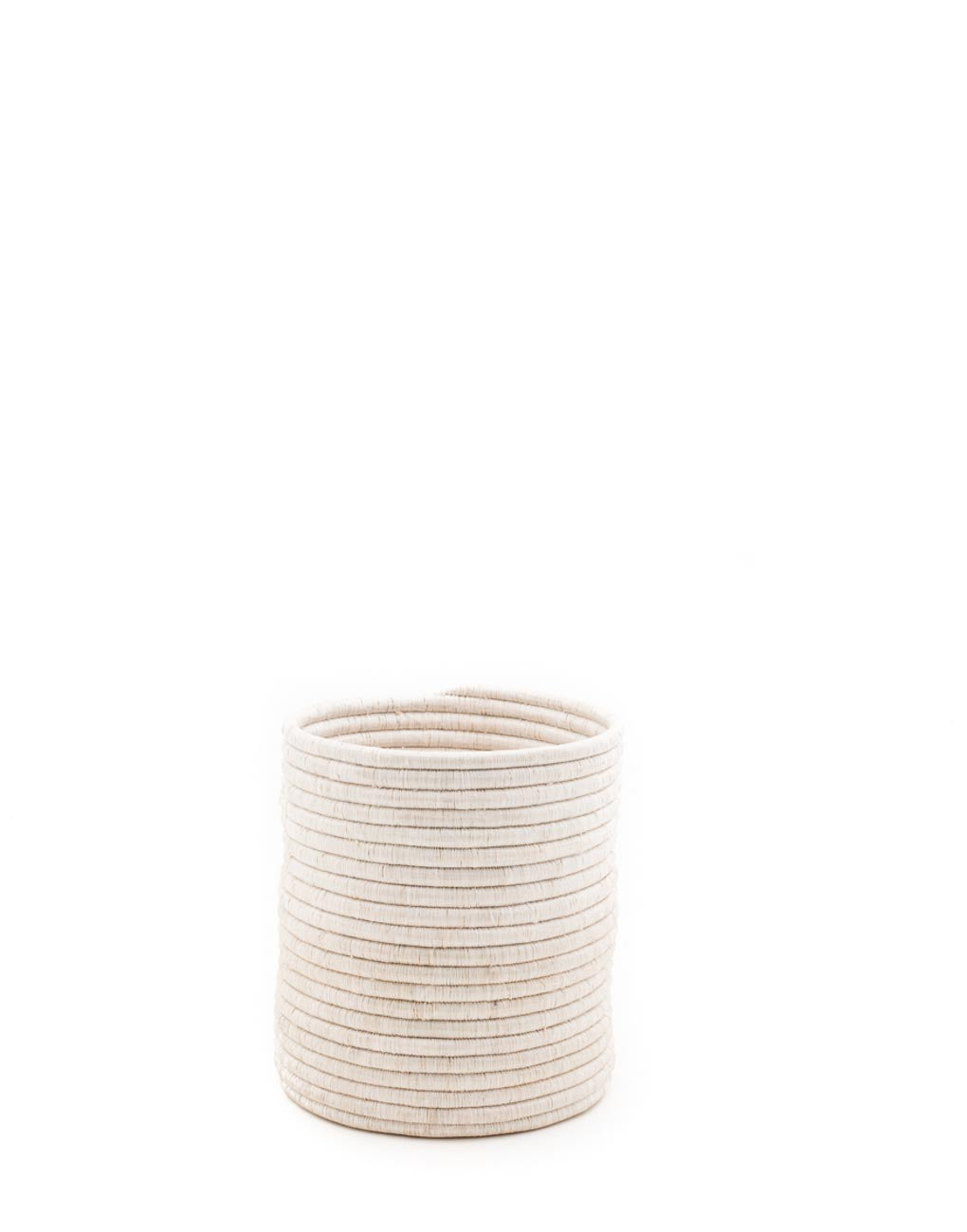 Small White Woven Bath Bin | The Little Market