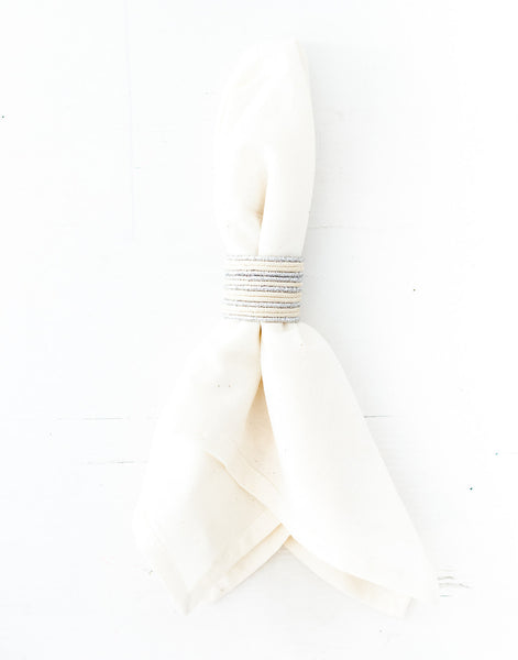 Woven Napkin Ring - Silver | The Little Market