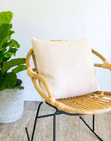 Woven Pillow - Cream
