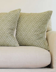 Fair Trade Handwoven Green Mexican Pillowcase