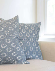 Fair Trade Handwoven Blue Mexican Pillowcase