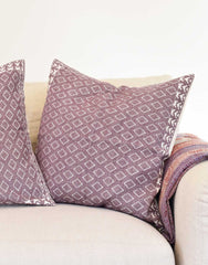 Fair Trade Handmade Purple Woven Mexican Pillowcase