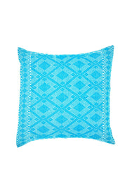 Fair Trade Handmade Blue Mexican Pillowcase