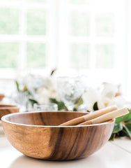 XL Wooden Salad Bowl | The Little Market