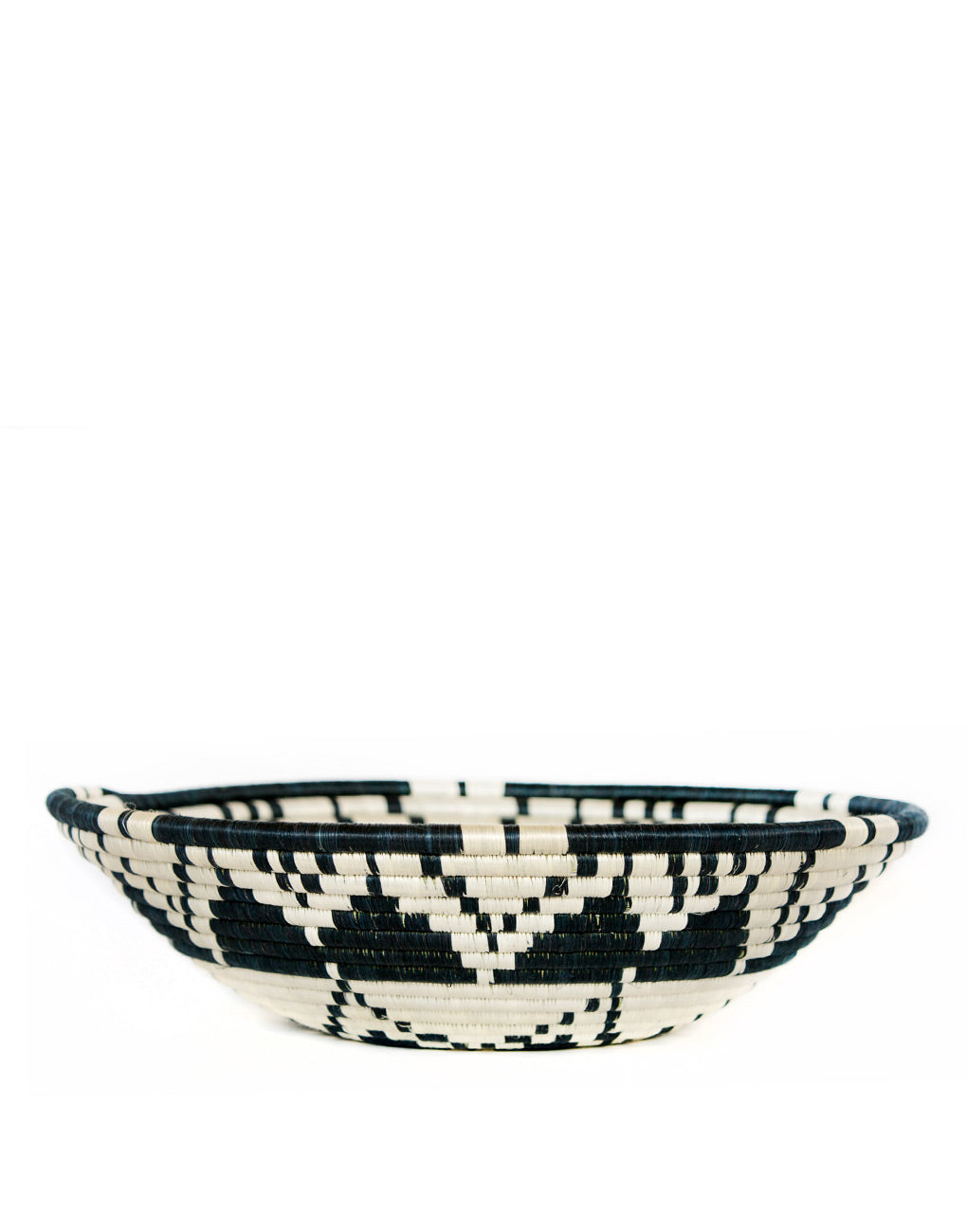 Fair Trade, Hand-woven Large Sun Bowl, Sisal and Sweet Grass, Black