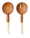 Zig Zag Bone & Wood Salad Servers