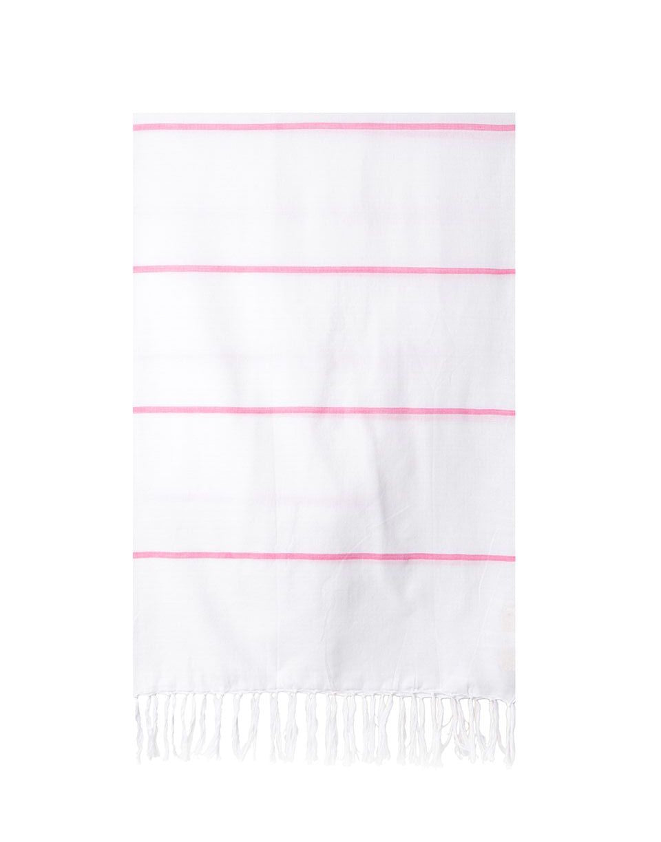 Lightweight Fringe Towel In Style No. 2 In Pink | The Little Market