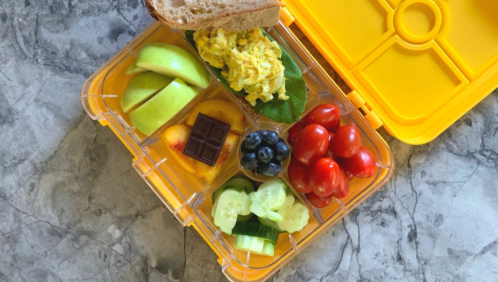 Healthy bento box lunch made by Legacy Greens grocery store in downtown Kitchener