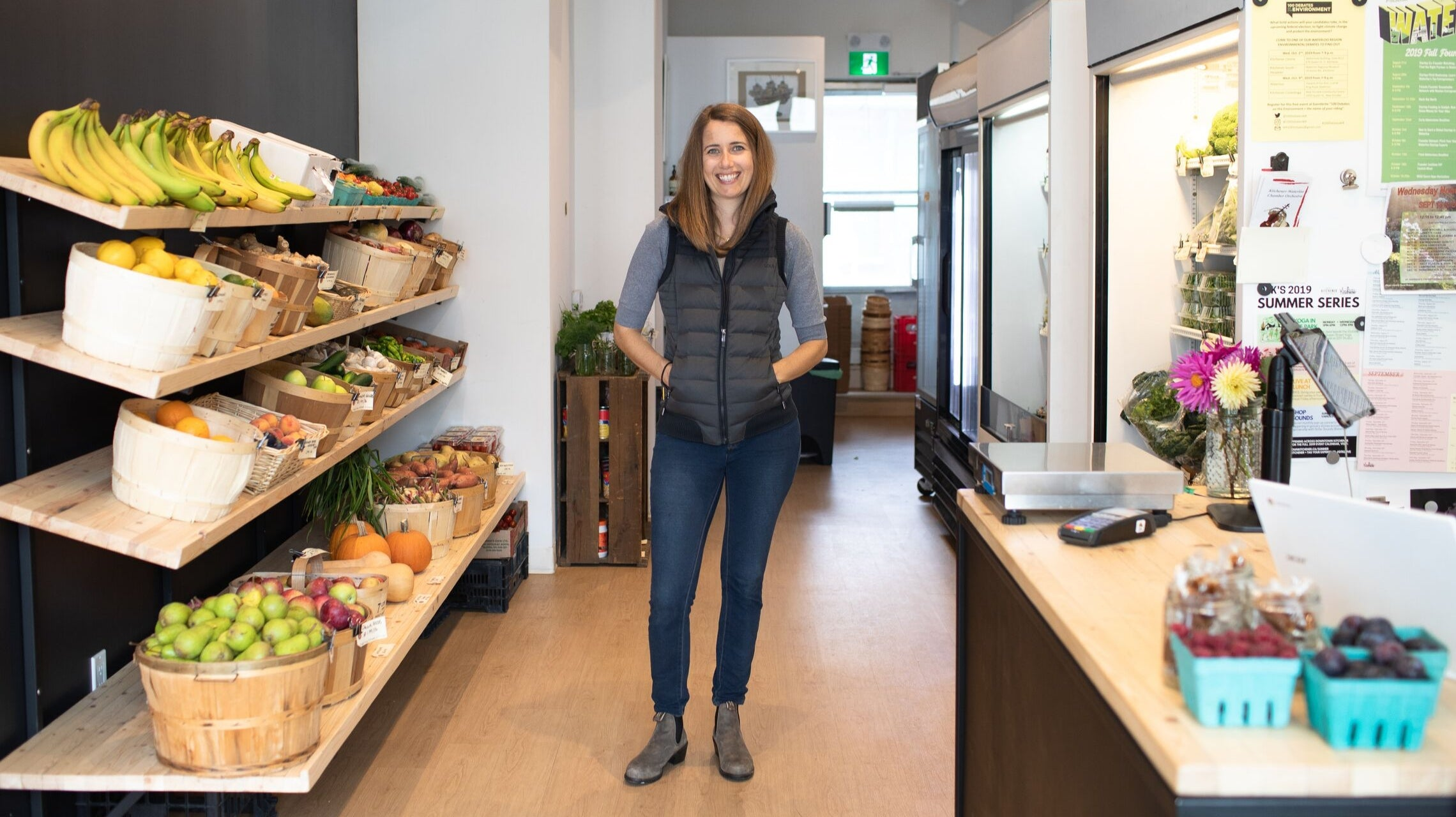 Jordan Dolson, founder of Legacy Greens Grocery Store in Downtown Kitchener, Ontario