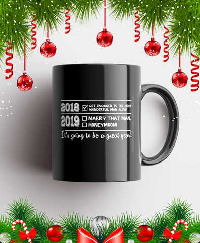 2018 2019 It's Going To Be A Great Year Mug Black/White