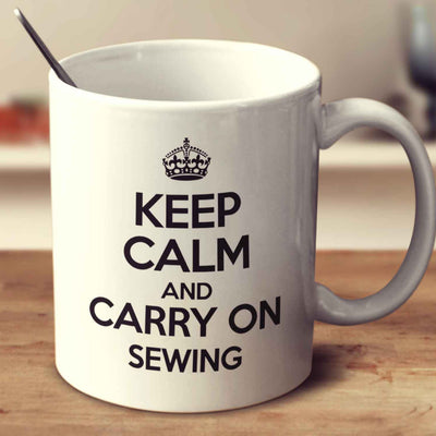 Keep Calm And Carry On Sewing Mug
