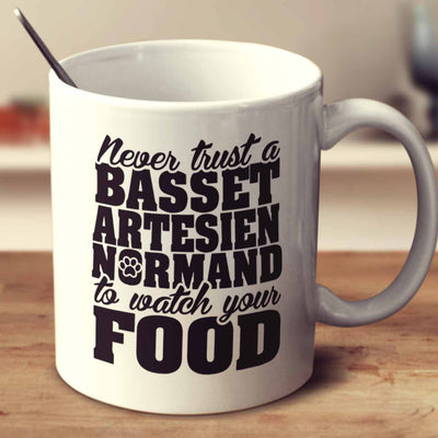 Never Trust A Basset Artesien Normand To Watch Your Food