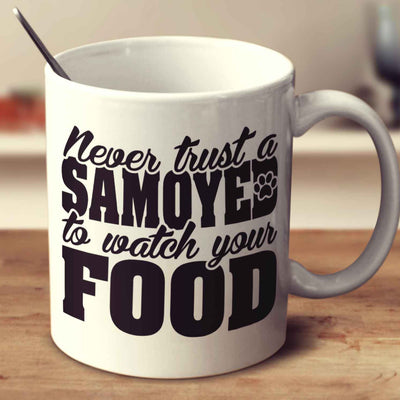 Never Trust A Samoyed To Watch Your Food
