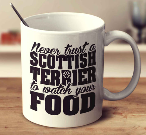Never Trust A Scottish Terrier To Watch Your Food