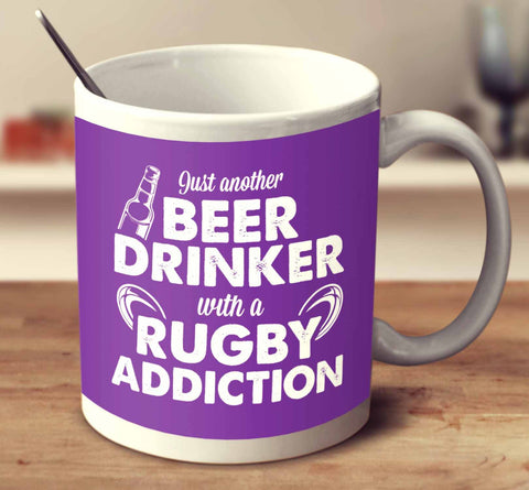 Beer Drinker With A Rugby Addiction