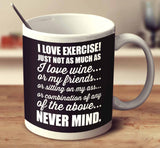 I Love Exercise Wine