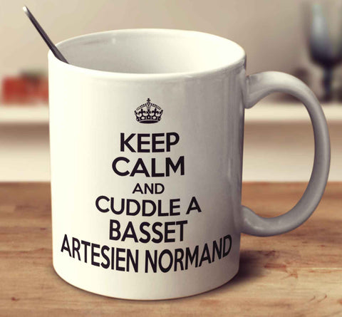 Keep Calm And Cuddle A Basset Artesien Normand