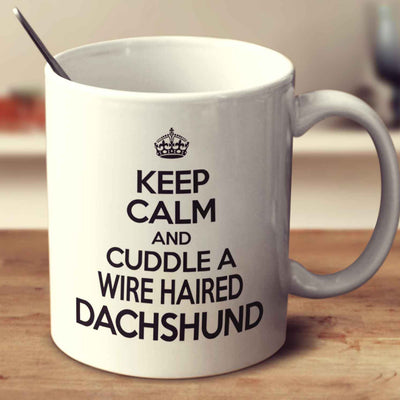 Keep Calm And Cuddle A Wire Haired Dachshund