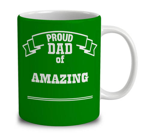 Personalized Proud Dad of Amazing