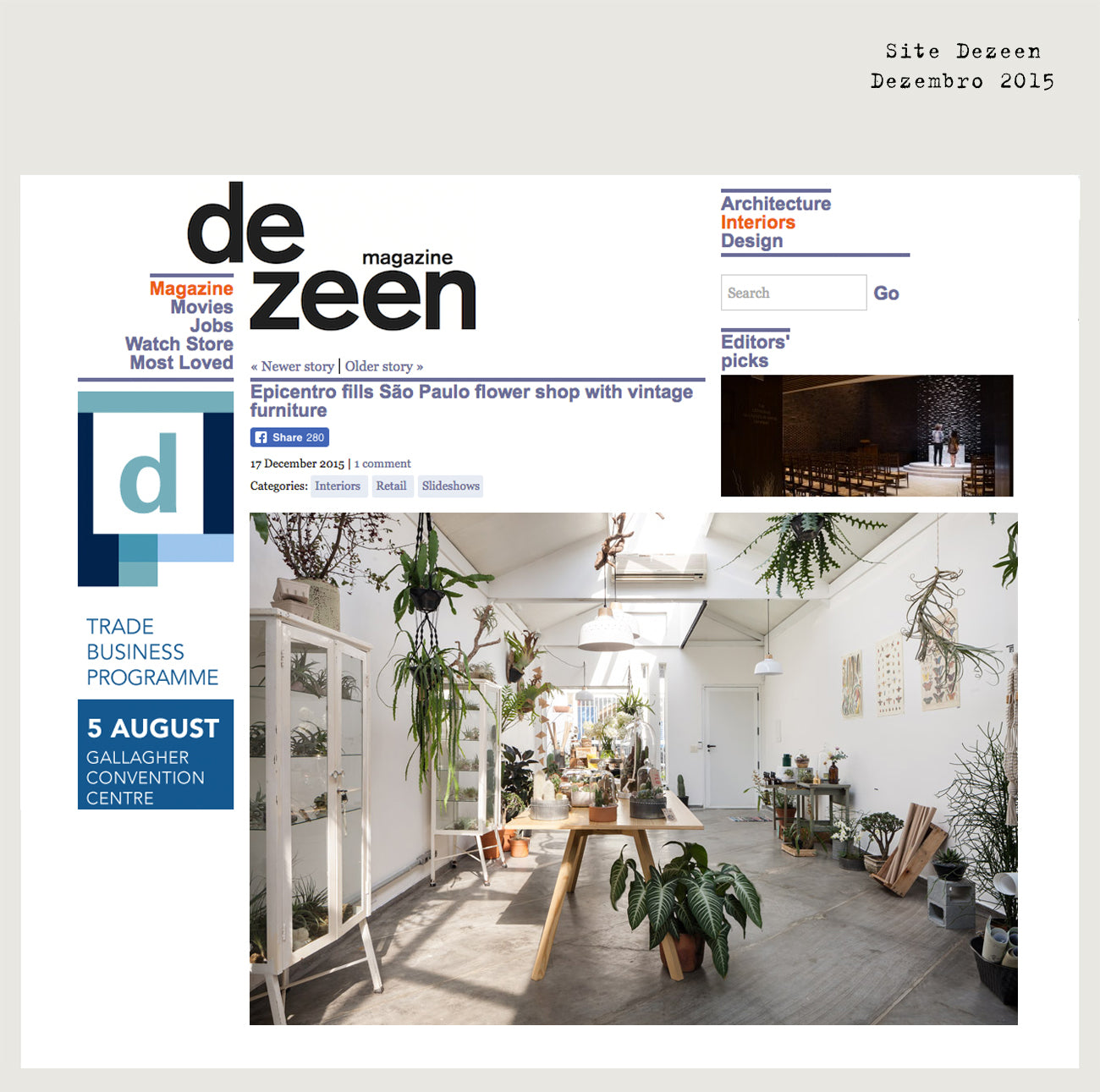 FLO atelier botânico featured on Dezeen