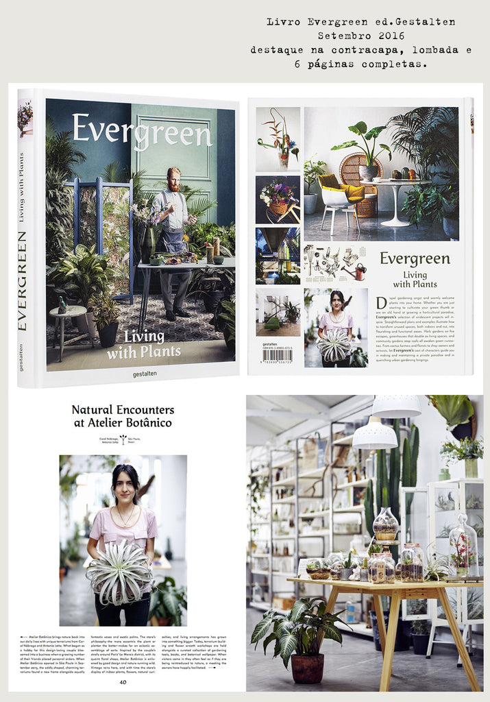Evergreen book featured São Paulo's botanical shop: FLO atelier botânico